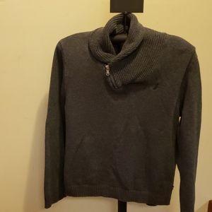 Nautica Boys Cotton Charcoal Gray Sweater